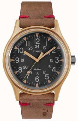 Timex Etui homme mk1 sst chrono 40mm bronze cadran noir bracelet marron TW2R96700