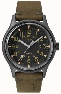 Timex Mens mk1 sst chrono 40mm boîtier noir cadran noir bracelet olive TW2R97000