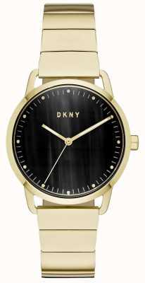DKNY Montre femme en cuir bleu marine NY2756