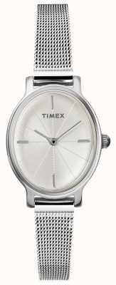 Timex Montre maille ovale en argent pour femme TW2R94200D7PF