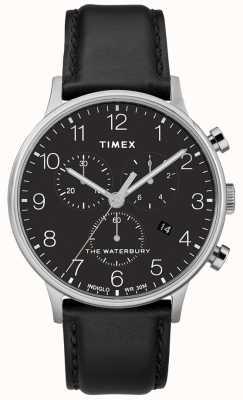 Timex Montre chronographe classique waterbury pour homme, bracelet noir TW2R96100D7PF