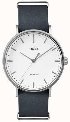 Timex Fairfield bracelet noir montre à 3 mains TWF3C8140UK