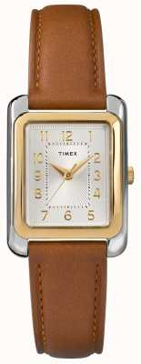 Timex Cadran en cuir marron pour femme TW2R89600D7PF