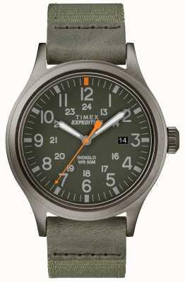 Timex Bracelet de montre en tissu vert TW4B14000D7PF