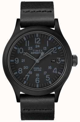 Timex Bracelet de montre en tissu noir TW4B14200D7PF