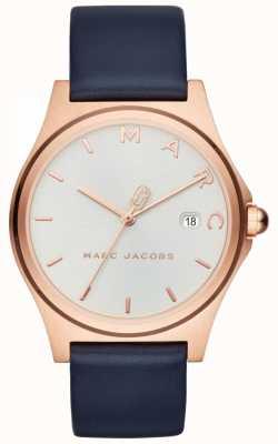Marc Jacobs Bracelet en cuir bleu marine pour femme MJ1609