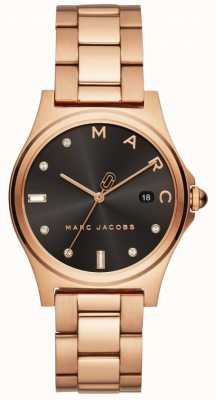 Marc Jacobs Montre henry femme ton or rose MJ3600