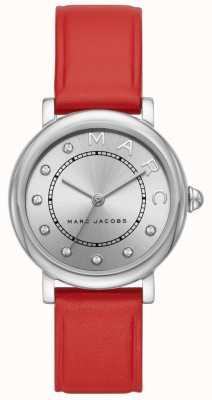 Montre classique Marc Jacobs en cuir rouge (sans boîte) MJ1632