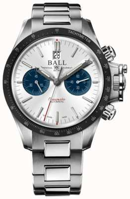 Ball Watch Company Chronographe Engineer Hydrocarbon Racer 42 mm cadran argenté CM2198C-S1CJ-SL
