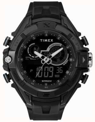 Timex Boitier noir pour homme 47mm bague noire bracelet noir TW5M23300