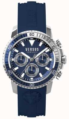 Versus Versace Cadran bleu en silicone bleu pour homme S30040017