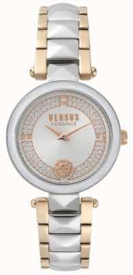 Versus Versace Montre en cristal bicolore Covent Garden pour femmes SPCD250017