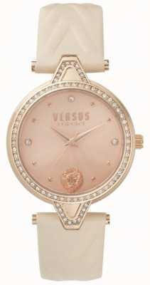 Versus Versace Womens v versus pierre set cadran en or rose bracelet en cuir rose SPCI330017
