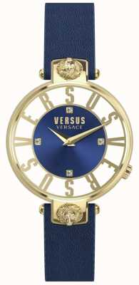 Versus Versace | les femmes | Kristenhof | cadran bleu | bracelet en cuir bleu | SP49020018