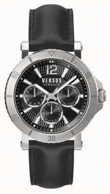 Versus Versace Bracelet en cuir noir cadran noir steenberg homme SP52020018
