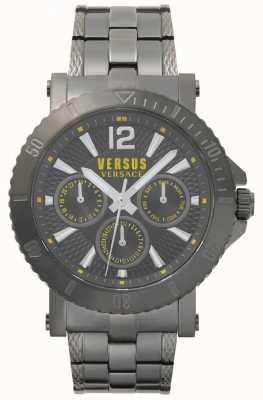 Versus Versace Bracelet en acier inoxydable gris cadran gris steenberg homme SP52050018