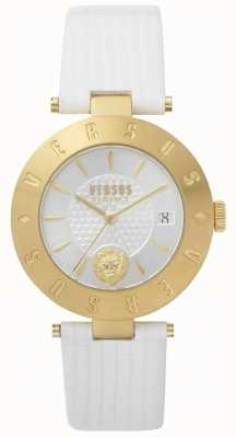Versus Versace Bracelet femme blanc logo en cuir blanc SP77210018