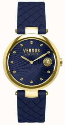 Versus Versace Bracelet femme cuir bleu cadran bleu SP87030018