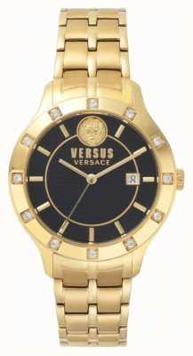 Versus Versace Bracelet dvd femme cadenfell cadran noir or SP46030018