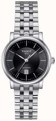 Tissot Cadran noir automatique en acier inoxydable Womens Carson T1222071105100