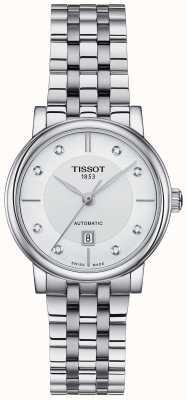 Tissot Ensemble de cristaux automatiques en acier inoxydable Carson pour femmes T1222071103600
