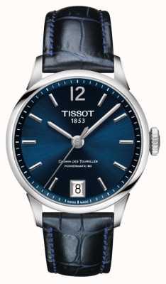 Tissot Cadran bleu en cuir du chemin des tourelles cadran bleu T0992071604700