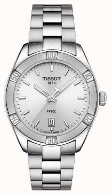 Tissot Womens pr 100 sport chic 36mm en acier inoxydable argent T1019101103100