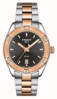 Tissot Cadran noir bicolore 36 mm PR 100 Sport Chic pour femme T1019102206100