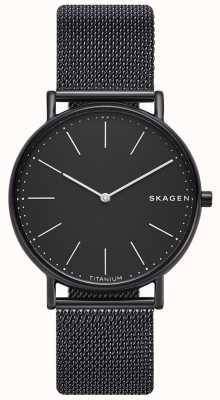 Skagen Bracelet homme signature en acier inoxydable noir avec cadran noir SKW6484