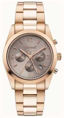 Ingersoll Womens le chronographe universel rose doré plaqué or I05402