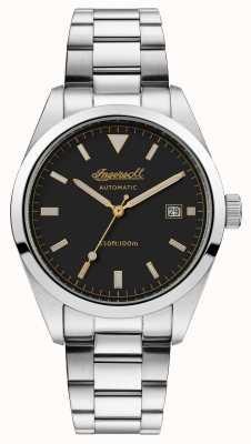 Ingersoll Mens the reliance bracelet en acier inoxydable cadran noir I05501