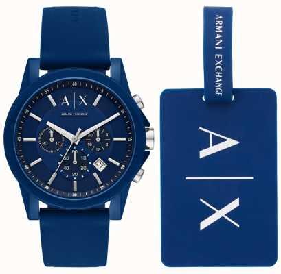 Armani Exchange Ensemble cadeau montre homme sport AX7107