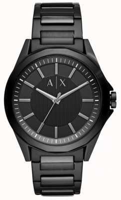 Armani Exchange Homme en acier inoxydable noir AX2620