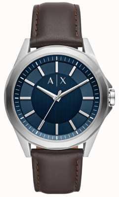 Armani Exchange homme robe montre bracelet marron AX2622