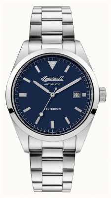 Ingersoll Mens the reliance bracelet en acier inoxydable cadran bleu I05502