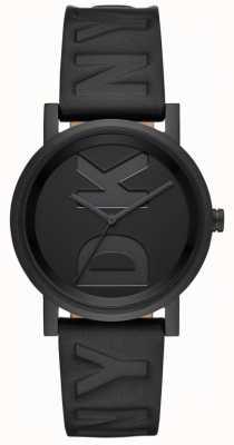 DKNY Mesdames soho montre bracelet en cuir noir NY2783