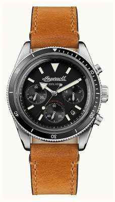 Ingersoll Le bracelet en cuir marron chronographe automatique scovill I06202