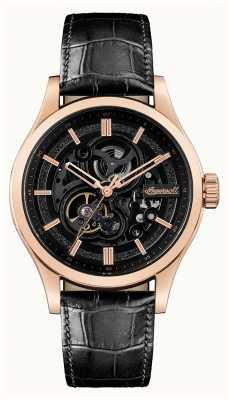 Ingersoll Le bracelet en cuir noir automatique armstrong I06802