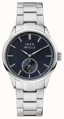 Jack Wills Bracelet en acier inoxydable avec cadran bleu forster pour hommes JW004BLSL