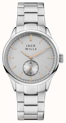 Jack Wills Bracelet en acier inoxydable avec cadran argenté forster pour hommes JW004SLSL