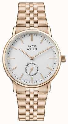 Jack Wills Bracelet pvd femme en or rose avec cadran blanc JW007WHRS