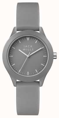 Jack Wills Bracelet en silicone gris pour femme avec cadran gris union JW008GYGY