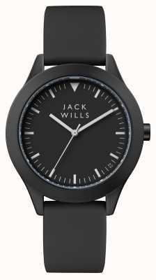 Jack Wills Bracelet en silicone noir pour homme avec cadran noir JW009BKBK