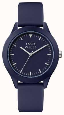 Jack Wills Bracelet en silicone bleu pour homme avec cadran bleu JW009BLBL