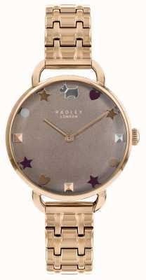 Radley Mesdames montre bracelet d'épaule ouverte en or rose RY4350
