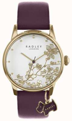 Radley Montre femme bracelet en cuir fleuri violet RY2688