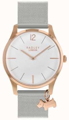 Radley Montre femme | boîtier en or rose | bracelet en acier inoxydable | RY4355