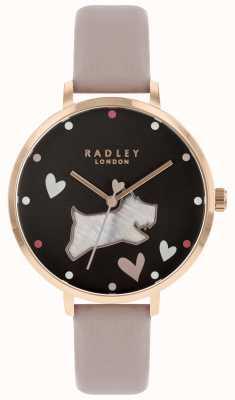 Radley Grand cadran noir pour femme, chien, nacre RY2678