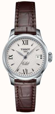 Tissot Montre automatique en cuir Ladies le locle slim T41111377