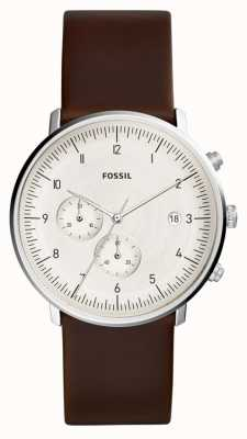 Fossil | montre chase mens cuir marron | FS5488